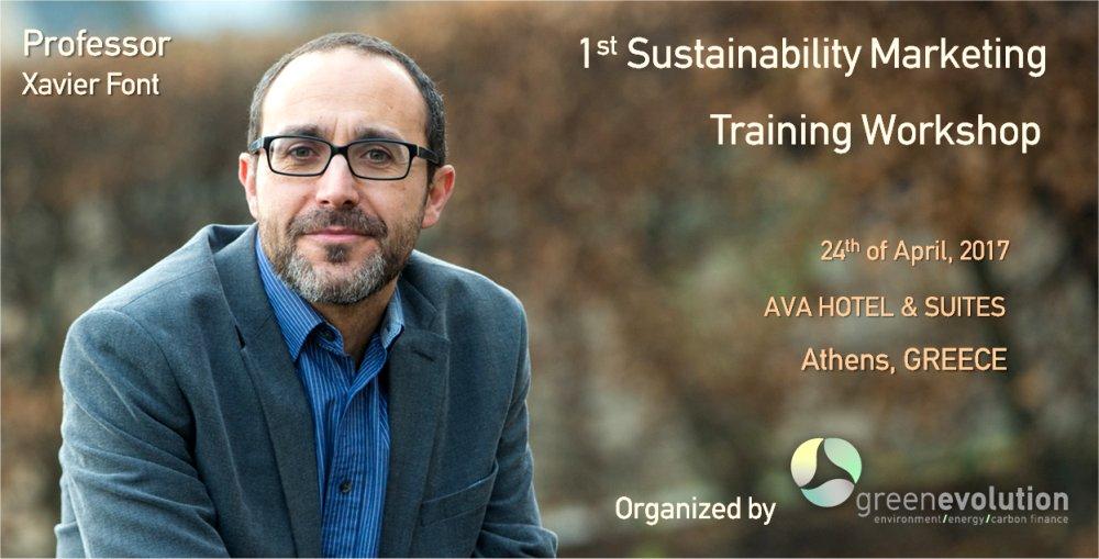 1st Sustainability Marketing Training Workshop, April 24th, 2017, ATHENS
