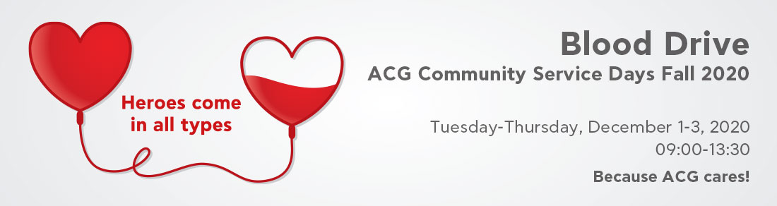ACG Blood Drive | December 2020