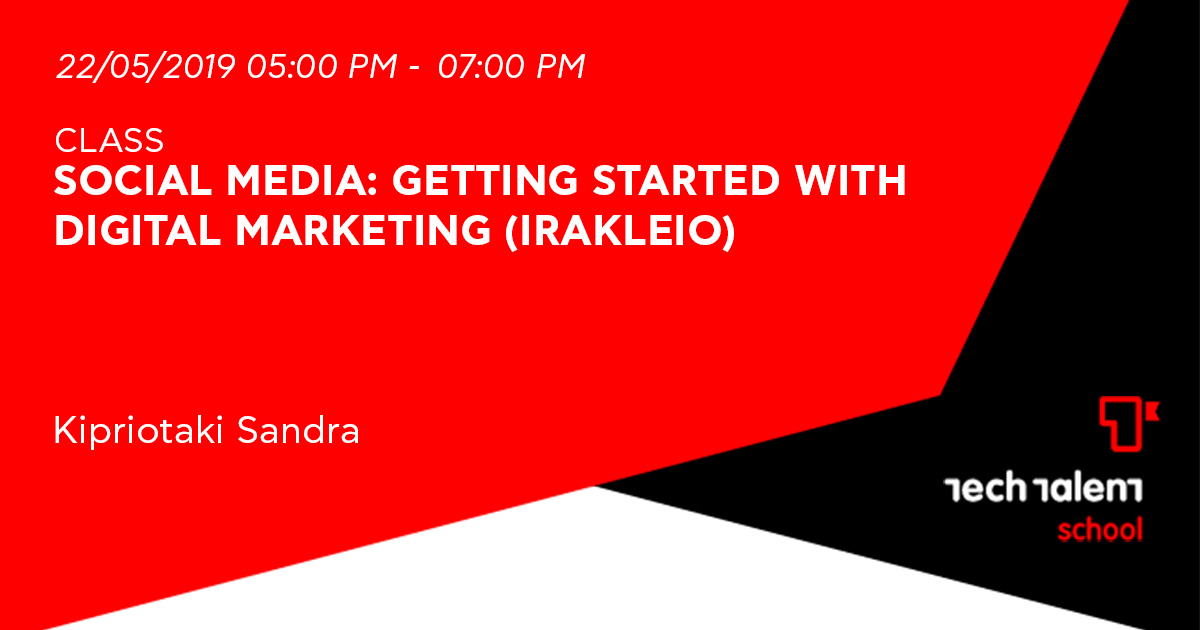 Social Media: Getting Started with Digital Marketing(Irakleio)