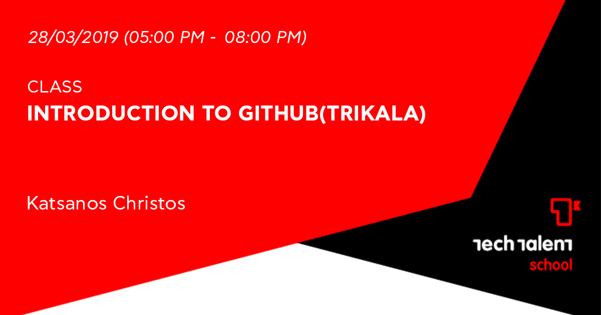 Introduction to GitHub(Trikala)