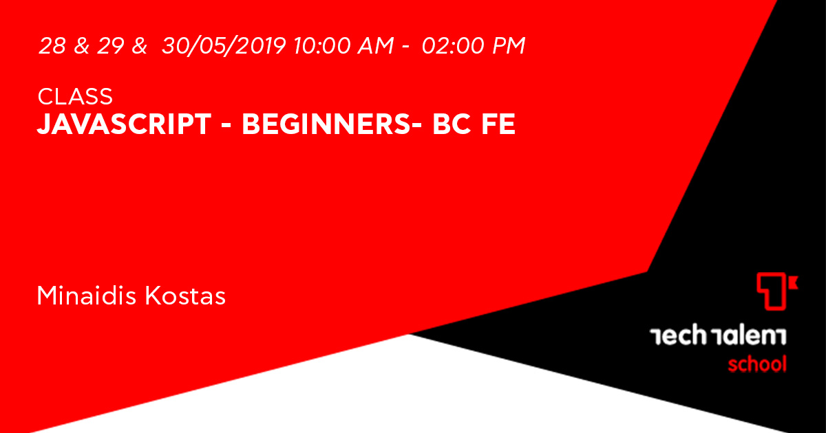 Javascript - Beginners- BC FE