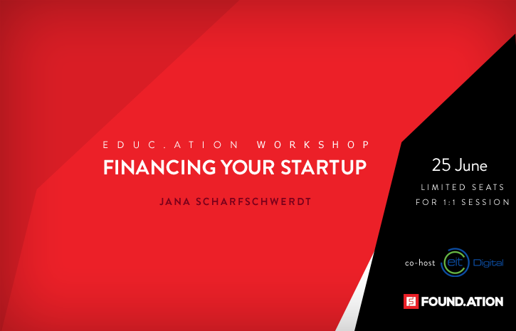 Educ.ation workshop: Financing your startup - How to run your fundraising with great financial planning