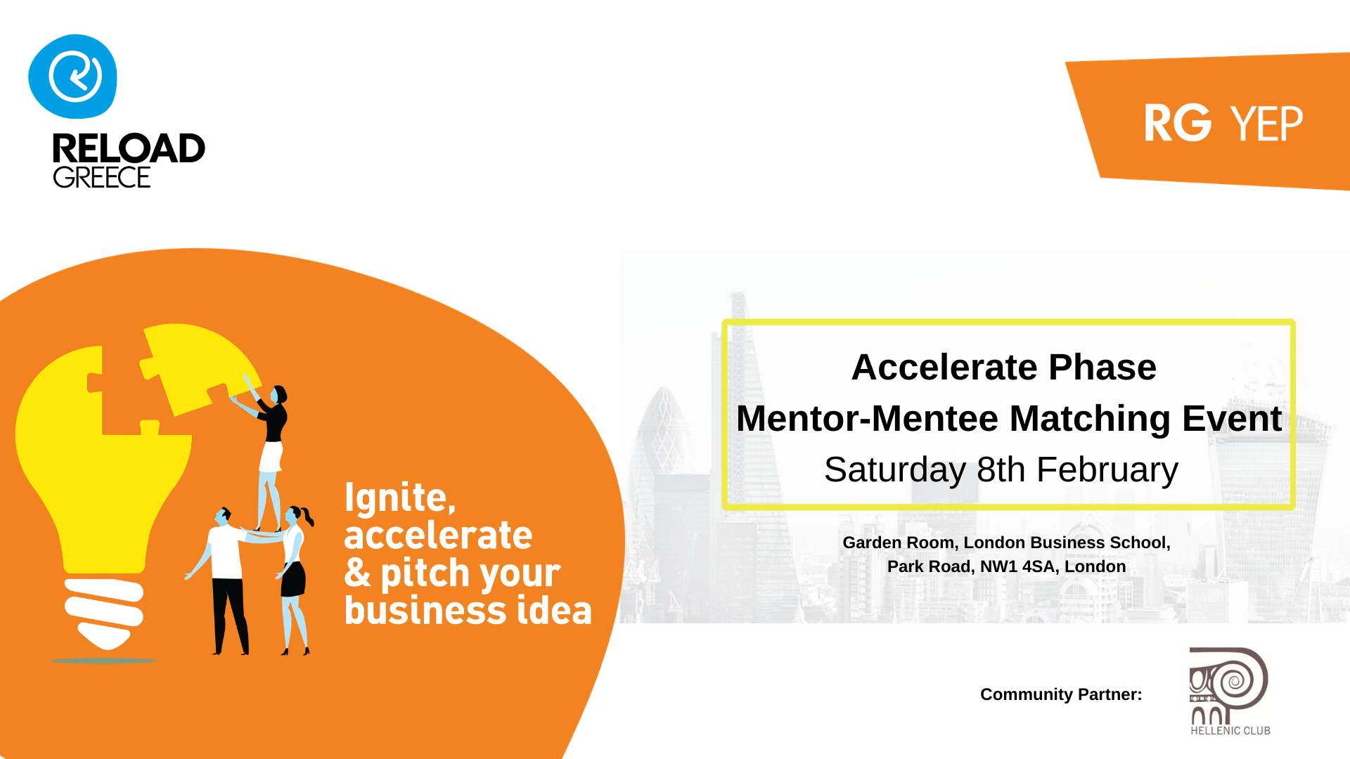 RG YEP Accelerate Phase 2019-2020: Mentor- Mentee Matching Event!