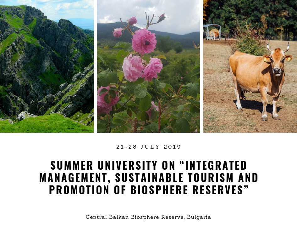 "Summer University  on ""Integrated Management, Sustainable Tourism, and Promotion of Biosphere Reserves"""