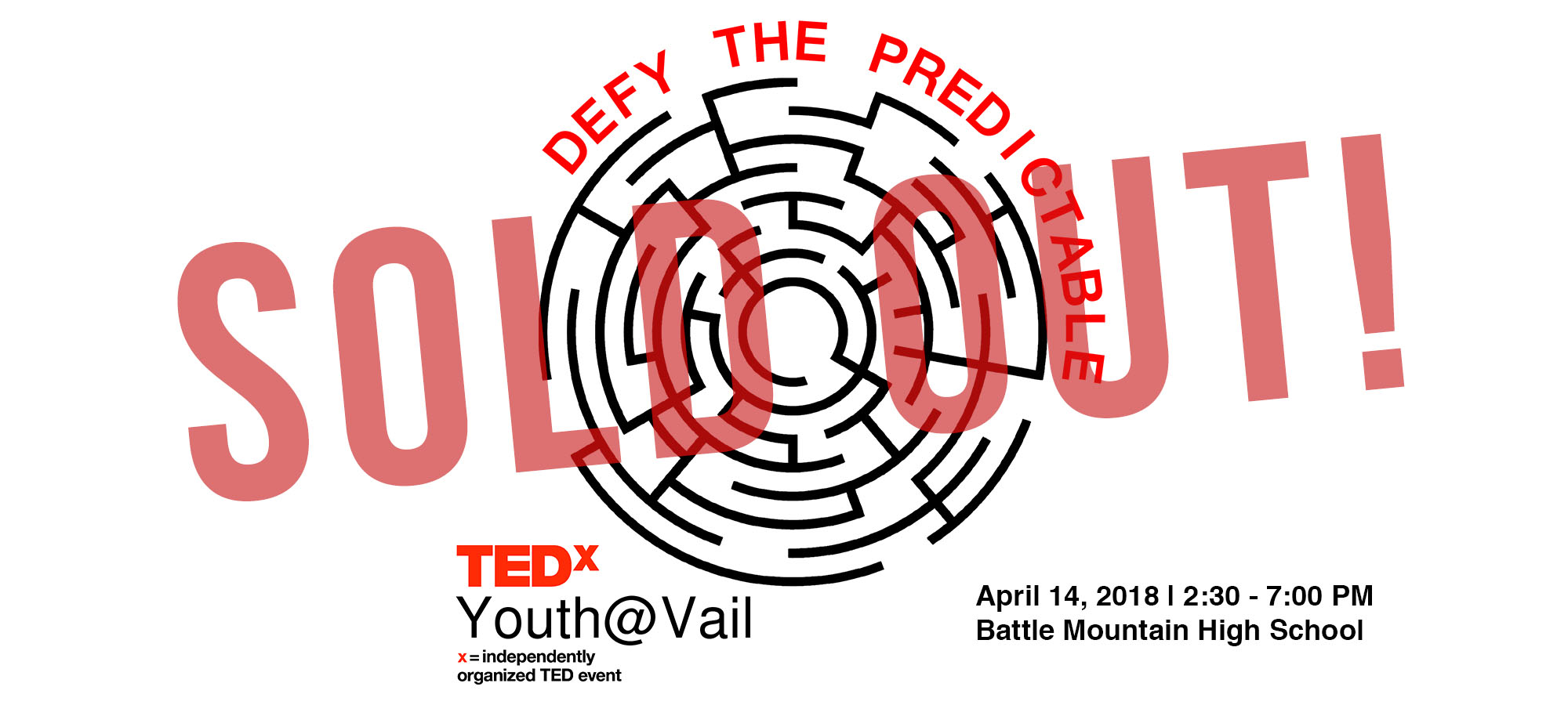 "TEDxYouth@Vail 2018 ""Defy The Predictable"""