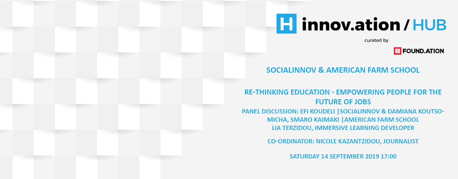 Re-thinking Education - Empowering people for the future of jobs (TIF19)