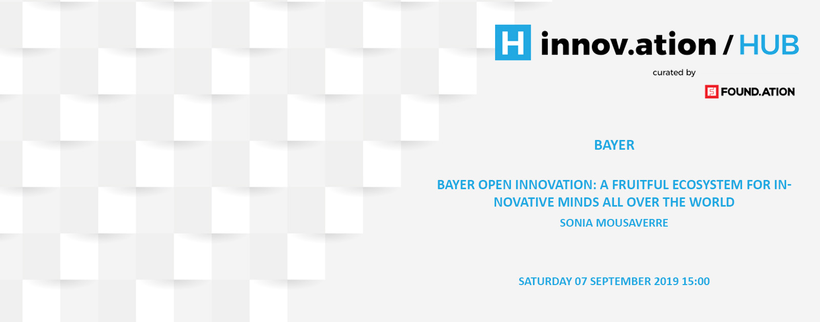 Bayer Open Innovation: A fruitful ecosystem for innovative minds all over the world (TIF19)