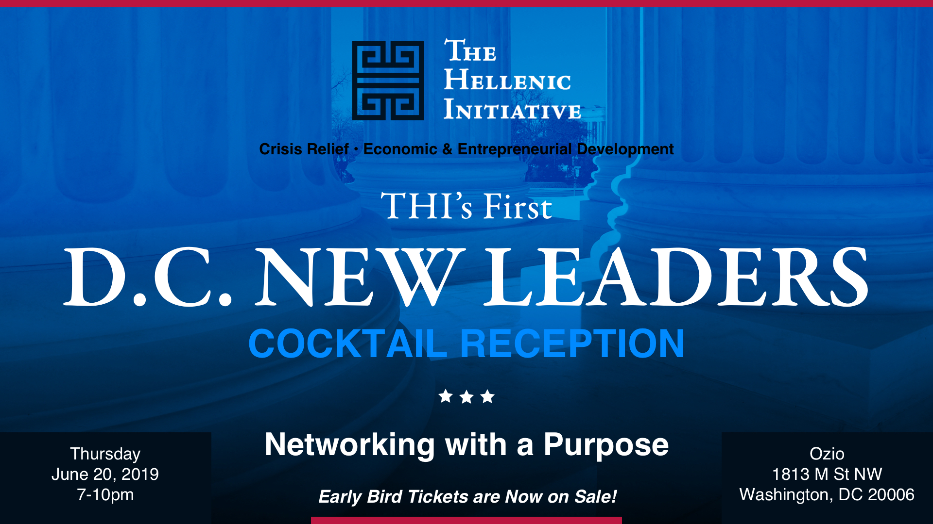 Washington DC New Leaders Launch Cocktails